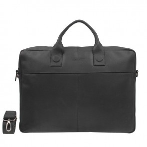 DSTRCT Fletcher Street Business Bag Black 15-17 inch Voorkant