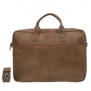 DSTRCT Fletcher Street Business Bag Cognac 17,3 inch Voorkant