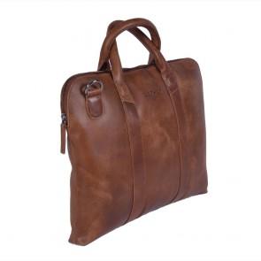 DSTRCT Fletcher Street Business Bag Cognac 13 inch Voor- zijkant