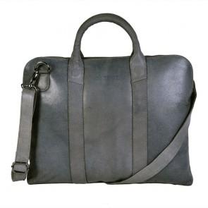 DSTRCT Fletcher Street Business Bag Grey 13 inch Voorkant