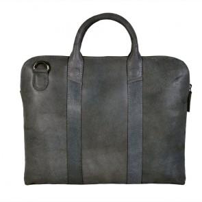 DSTRCT Fletcher Street Business Bag Grey 13 inch Achterkant