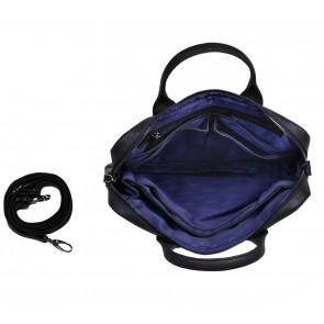 DSTRCT Fletcher Street Business Laptop Bag Black 11-13 inch Open