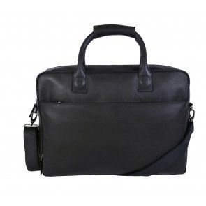 DSTRCT Fletcher Street Business Laptop Bag Black 15-17 inch Voorkant