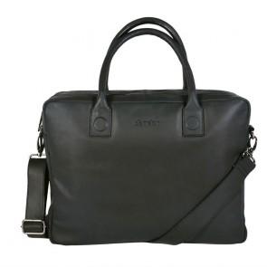 DSTRCT Fletcher Street Business Laptop Bag Black 15 inch Voorkant