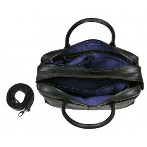 DSTRCT Fletcher Street Business Laptop Bag Black 15 inch Open