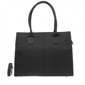 DSTRCT Fletcher Street Dames Laptop Bag Black 13-15 inch Voorkant
