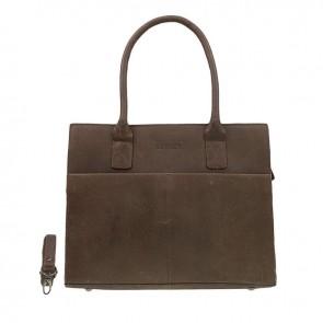DSTRCT Fletcher Street Dames Laptop Bag Brown 13-15 inch Voorkant
