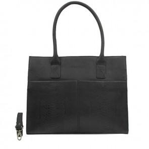 DSTRCT Fletcher Street Dames Laptop Bag Anaconda Black 13-15 inch Voorkant