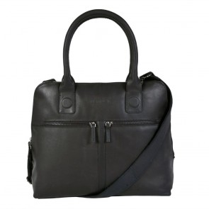DSTRCT Fletcher Street Dames Laptop Bag Black 11.6 inch Voorkant