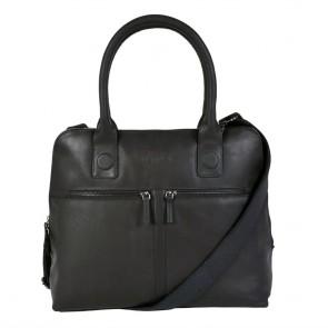 DSTRCT Fletcher Street Dames Laptop Bag Black 11.6 inch Voorkant