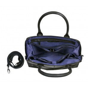 DSTRCT Fletcher Street Dames Laptop Bag Black 11.6 inch Open