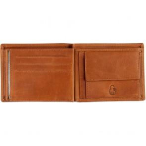 DSTRCT Leren Heren Billfold Portemonnee Wax Lane 384330 Cognac Binnenkant