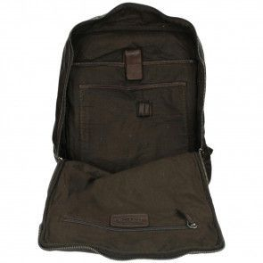 DSTRCT Pearl Street Backpack Brown 15.6 inch Open