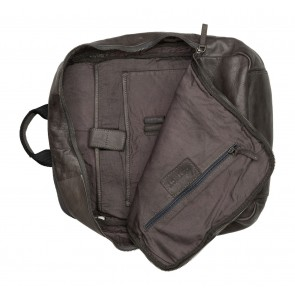 DSTRCT Pearl Street Backpack Grey 15.6 inch Open