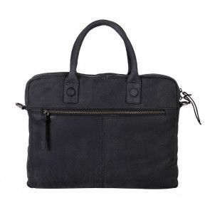 DSTRCT Wall Street Business Bag Black 11-14 inch Achterkant