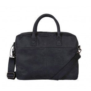 DSTRCT Wall Street Business Laptop Bag Black 13-15 inch Voorkant