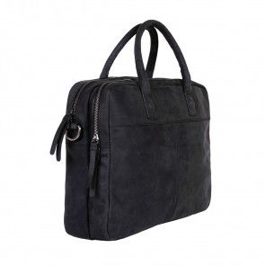 DSTRCT Wall Street Business Laptop Bag Black 13-15 inch Voor- zijkant