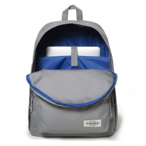 Eastpak Out of Office Rugzak Grey Stitched 14 inch Voorkant Open