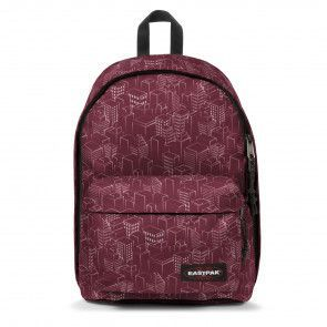 Eastpak Out of Office Rugzak Merlot Blocks 14 inch Voorkant