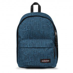 Eastpak Out of Office Rugzak Navy Blocks 14 inch Voorkant