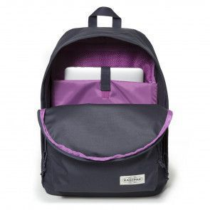 Eastpak Out of Office Rugzak Navy Stitched 14 inch Voorkant Open
