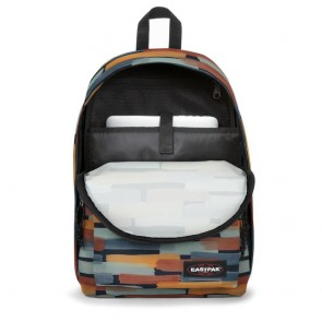 Eastpak Out of Office Rugzak Blue Dance 14 inch Voorkant Open