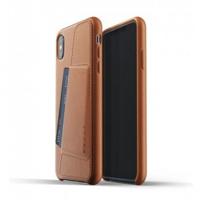 Mujjo Leather Wallet Case iPhone XS Max Tan