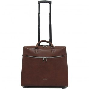 Gigi Fratelli Dames Leren Laptop Trolley 15.6 inch Romance Business ROM8015 Brandy Voorkant
