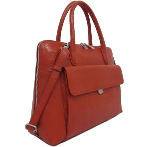 Gigi Fratelli Dames Leren Laptoptas 13.3 inch Romance Business ROM8013 Oranje Voorkant