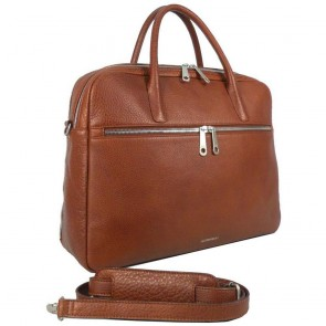 Gigi Fratelli Dames Leren Laptoptas 15 inch Romance Business ROM8002 Brandy Voorkant