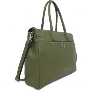 Gigi Fratelli Dames Leren Laptoptas 15 inch Romance Business ROM8006 Camouflage Groen Voorkant