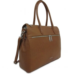 Gigi Fratelli Dames Leren Laptoptas 15 inch Romance Business ROM8006 Saddle Voorkant