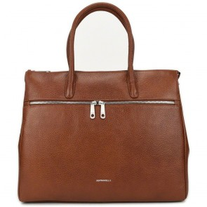 Gigi Fratelli Dames Leren Laptoptas 17 inch Romance Business ROM8007 Brandy Voorkant
