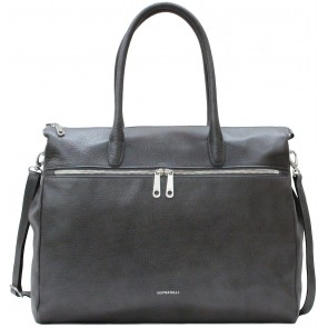 Gigi Fratelli Dames Leren Laptoptas 17 inch Romance Business ROM8007 Smoke Voorkant