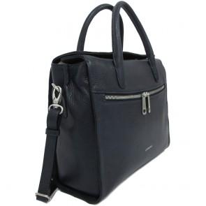 Gigi Fratelli Dames Leren Laptoptas / Tablet tas 10 inch Romance Business ROM8010 Blauw Voor-zijkant