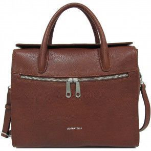 Gigi Fratelli Dames Leren Laptoptas / Tablet tas 10 inch Romance Business ROM8010 Brandy Voorkant