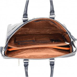 Gigi Fratelli Dames Leren Laptop Trolley 15.6 inch Romance Business ROM8015 Blauw Binnenkant