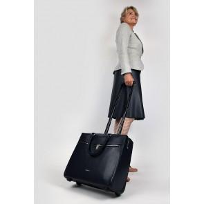 Gigi Fratelli Dames Leren Laptop Trolley 15.6 inch Romance Business ROM8015 Blauw Model
