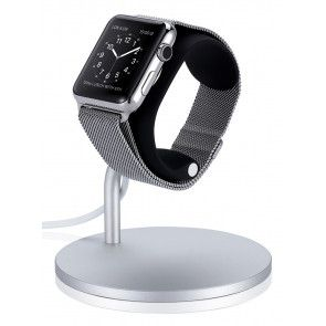 Just Mobile Lounge Dock Apple Watch zij- en voorkant