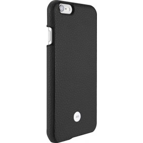 Just Mobile Quattro Back Cover iPhone 6/6S Black achterkant met silver iPhone