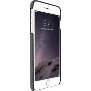 Just Mobile Quattro Back Cover iPhone 6/6S Plus Grey voorkant met silver iPhone