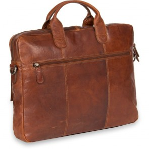 Justified Leren Laptoptas 15 inch Everest Cognac Achterkant