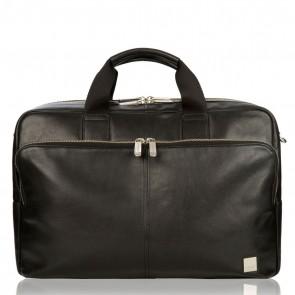 Laptoptas Amesbury Leather Briefcase Black 15.6 inch Voorkant