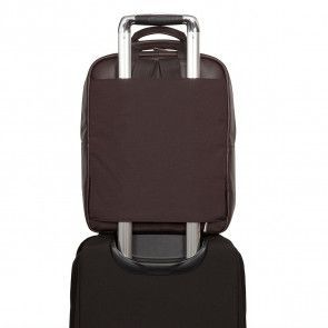 Knomo Dale Leather Backpack Brown 15 inch op trolley