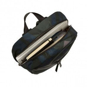 Knomo Berlin Backpack Night Forest 15 inch Open