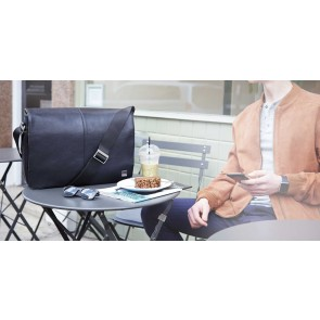 Knomo Bungo Expandable Messenger Black 15.6 inch Lifestyle