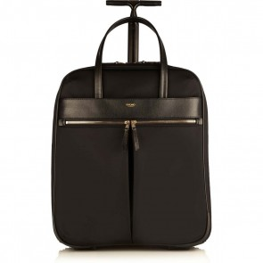 Knomo Burlington Business Trolley Black 15 inch Voorkant