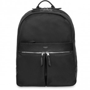 Knomo Laptop Rugzak 15 inch Mayfair Beaufort Zwart/Zilver Voorkant