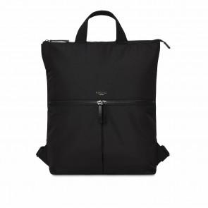 Knomo Dames Laptop Tote Rugzak 15 inch Dalston Reykjavik Zwart Voorkant