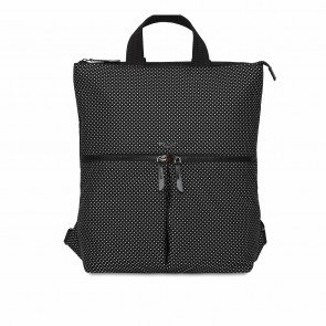 Knomo Dames Laptop Tote Rugzak 15 inch Dalston Reykjavik Zwart Reflective Voorkant